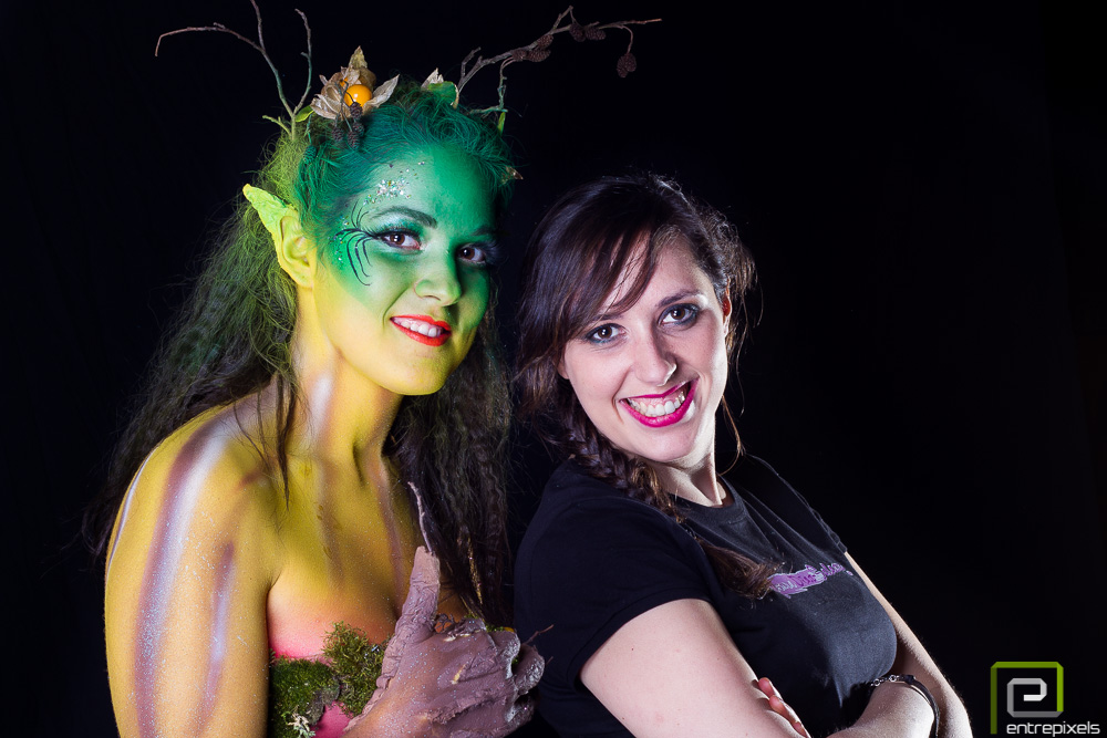 Laura y Katy, body paint otoño