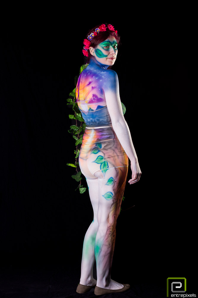 Sandra, body paint de primavera